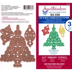 (S4-339)Spellbinders Holiday Tree 2012