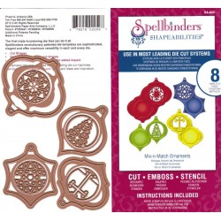 (S4-405)Spellbinders Mix-n-Match Ornaments