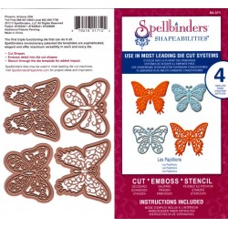 (S4-371)Spellbinders butterflies