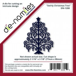 (DN-1208)Die-Namites Swirly Christmas Tree