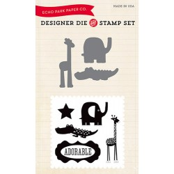(EPDIE/STAMP07)Echo Park Little Man Designer Dies & Stamp Set