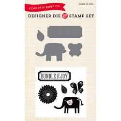 (EPDIE/STAMP06)Echo Park Little Lady Designer Dies & Stamp Set