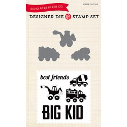 (EPDIE/STAMP05)Echo Park Big Kid Designer Dies & Stamp Set