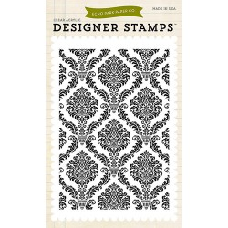 (EPSTAMP19)Echo Park Clear Acrylic Stamps Damask Background