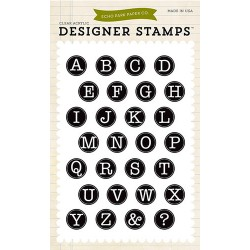 (EPSTAMP18)Echo Park Clear Acrylic Stamps Typewriter Alphabet