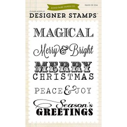 (EPSTAMP17)Echo Park Clear Acrylic Stamps Christmas Sentiments