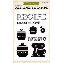 (EPSTAMP16)Echo Park Clear Acrylic Stamps Homemade With Love