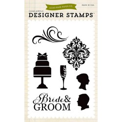 (EPSTAMP15)Echo Park Clear Acrylic Stamps Wedding