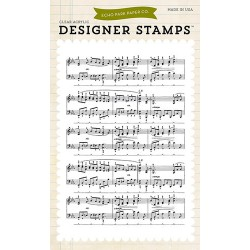 (EPSTAMP14)Echo Park Clear Acrylic Stamps Musical Notes Backgrou