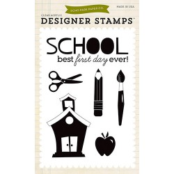 (EPSTAMP13)Echo Park Clear Acrylic Stamps Back-To-School