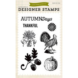 (EPSTAMP11)Echo Park Clear Acrylic Stamps Hello Fall