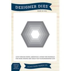 (EPPDIE45)Echo Park Hexagon Nesting Set Designer Dies