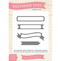 (EPPDIE37)Echo Park Designer Label Set 3 Designer Dies