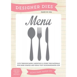 (EPPDIE31)Echo Park What's On The Menu Designer Dies