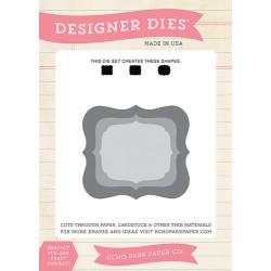 (EPPDIE28)Echo Park Designer Label Set 2 Designer Dies