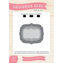 (EPPDIE27)Echo Park Designer Label Set 1 Designer Dies