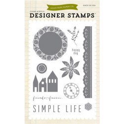 (EPSTAMP05)Echo Park Simple Life Clear Stamp Set