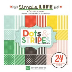(SL68030)Echo Park Paper Pad Simple Life Dots & Stripes