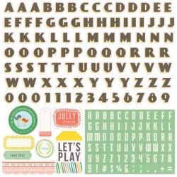 (SL68015)Echo Park Paper Pad Simple Life Alpha Stickers