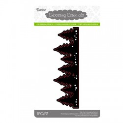 (2014-41)Darice Die cut stencil evergreen border