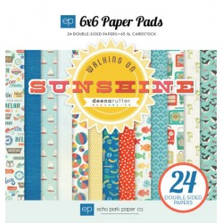 (WS67023)Echo Park Walking On Sunshine 6x6 Inch Paper Pad