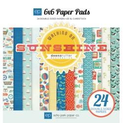 (WS67023)Echo Park Walking On Sunshine 6x6 Inch Paper Pad