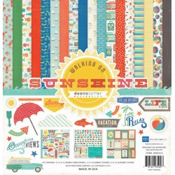 (WS67016)Echo Park Walking On Sunshine 12x12 Inch Collection Kit