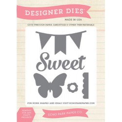 (EPMDIE08)Echo Park We Are Family Sweet Butterfly Banner Designe