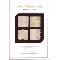 (PP011)Adele Miller: Art Nouveau Cards Patterns