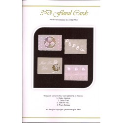 (PP015)Adele Miller: 3D Floral Cards Patterns