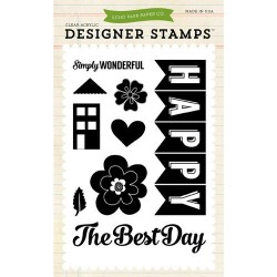 (EPSTAMP04)Echo Park We Are Family Happy Family Clear Stamps