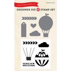 (EPDIE/STAMP02)Echo Park We Are Family Hot Air Balloon Designer