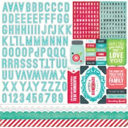 (WAF66015)Echo Park We Are Family 12x12 Inch Alpha Stickers