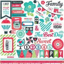 (WAF66014)Echo Park We Are Family 12x12 Inch Element Stickers
