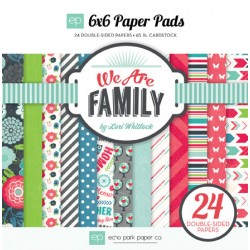(WAF66023)Echo Park We Are Family 6x6 Inch Paper Pad