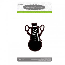 (2014-35)Darice Die cut stencil snowman with hat