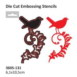 (2014-57)Darice Die cut stencil bird on branch