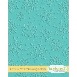 (TEEF10)Taylored Expressions Winter Flurry Embossing Folder