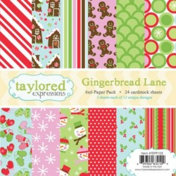 (TEPP103)Taylored Expressions Gingerbread Lane 6X6 Inch Paper Pa