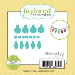 (TE439)Taylored Expressions Little Bits Christmas Bulbs