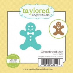 (TE432)Taylored Expressions Little Bits Gingerbread Man