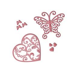 (S3-211)Spellbinders Die D-Lite Flutter Love