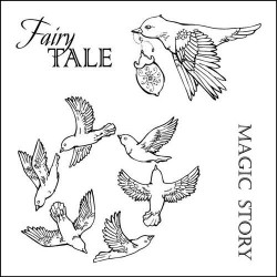 (SCB4904012b)ScrapBerry's Clear Stamps Fairy Tale Magic Story