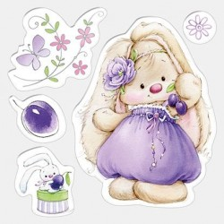 (SCB4902007)ScrapBerry's Clear Stamps Bunny And Plums
