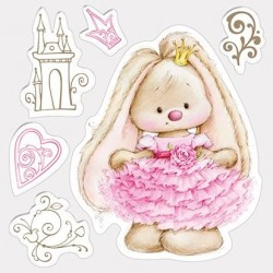 (SCB4902005)ScrapBerry's Clear Stamps Bunny Princess