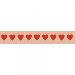 (SCB4905022)ScrapBerry's Craft Tape With Print Hearts 15 mm x 8