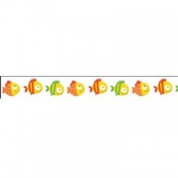 (SCB4905010)ScrapBerry's Craft Tape Basiko & Co Fishes 1 15 mm x