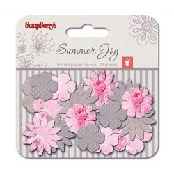 (SCB281213)ScrapBerry's Paper Printed Blossoms Summer Joy Peones