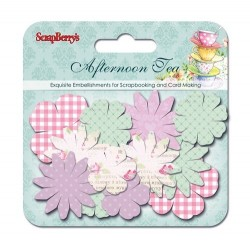 (SCB281212)ScrapBerry's Paper Printed Blossoms Afternoon Tea