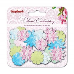 (SCB281211)ScrapBerry's Paper Printed Blossoms Afternoom Tea